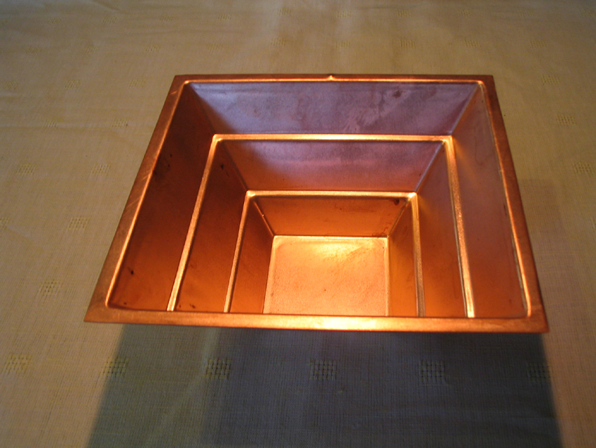 Extra thick gauge Copper Pyramid for Homa Therapy